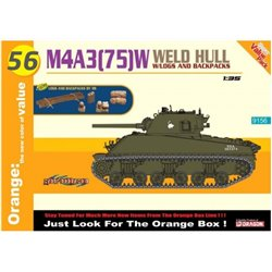 DRAGON 9156 1/35 M4A3 (75)W Weld Hull w/Logs and Backpacks