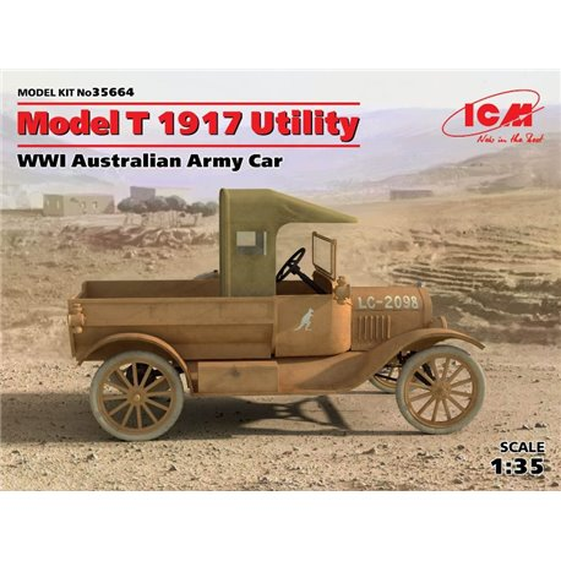ICM 35664 1/24 Model T 1917 Utility, WWI Australian Army Car