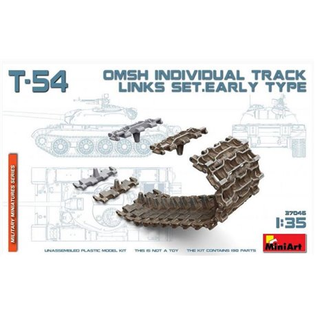 Miniart 37046 1/35 T-54 OMSh Individual Track Links Set. Early Type