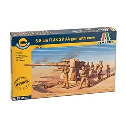 ITALERI 7512 1/72 8.8 cm Flak 37 AA gun with crew