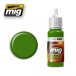 AMMO OF MIG A.MIG-096 Acrylic Color CRYSTAL PERISCOPE GREEN 17ml