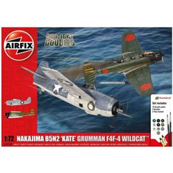 AIRFIX A50169 1/72 Dogfight Doubles Nakajima B5N2 'Kate' Grumman F4F-4 Wildcat
