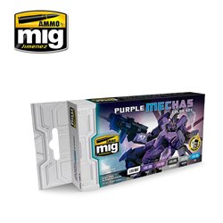 AMMO OF MIG A.MIG-7157 Purple Mechas Color Set 6x17ml