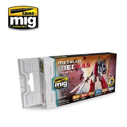 AMMO OF MIG A.MIG-7158 Metallic Mechas Color Set 6x17ml