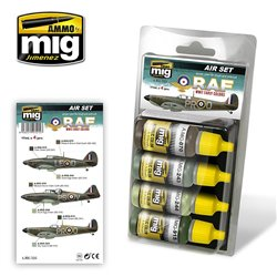 AMMO OF MIG A.MIG-7215 RAF WWII Early Colors 4x17ml