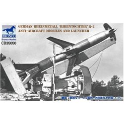 "BRONCO CB35050 1/35 German Rheinmetall ""Rheintochter"" R-2 Anti-Aircraft Missiles and Launcher"