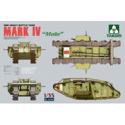 "Takom 2008 1/35 ""Male"" WWI Heavy Battle Tank Mark IV « Male »"