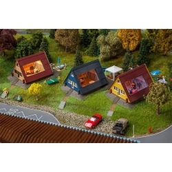 Faller 130606 HO 1/87 Coffret de maisons de vacances - Set of holiday homes
