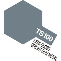 Tamiya 85100 TS100 Spray Gun Metal Clair Gloss 100ml