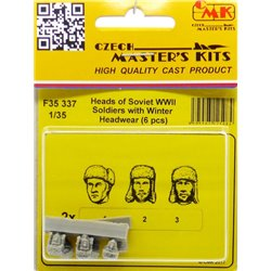 CMK F35337 1/35 Heads of Soviet WW2 Soldiers with Winter Headwear 6 pcs