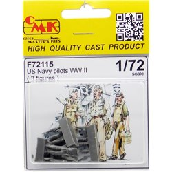 CMK F72115 1/72 US Navy Pilots WWII 3 fig