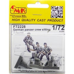 CMK F72228 1/72 German Panzer Crew sitting 3 fig
