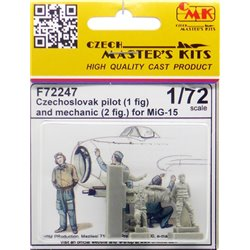 CMK F72247 1/72 Czechoslovak pilot 1 fig and mechanic 2 fig for MiG-15