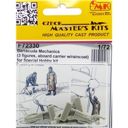 CMK F72330 1/72 Barracuda Mechanics 3 figures, aboard carrier w/ raincoat