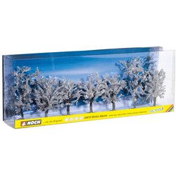 NOCH 25075 HO 1/87 Winter trees, 7 pieces, approx. 8 - 10 cm high