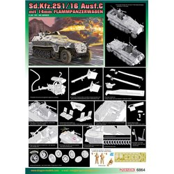 DRAGON 6864 1/35 Sd.Kfz.251/16 Ausf.C mit 14mm Flammpanzerwagen