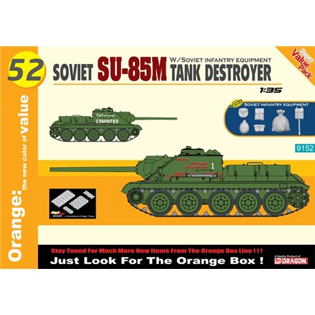 DRAGON 9152 1/35 Soviet SU-85M Tank Destroyer (Orange)