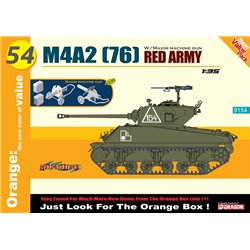 DRAGON 9154 1/35 M4A2 (76) Red Army + Maxim Machine Gun (Orange)