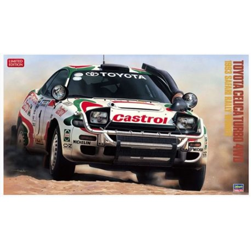 HASEGAWA 20309 1/24 Toyota Celica Turbo 4WD 1993 Safari Rally Winner