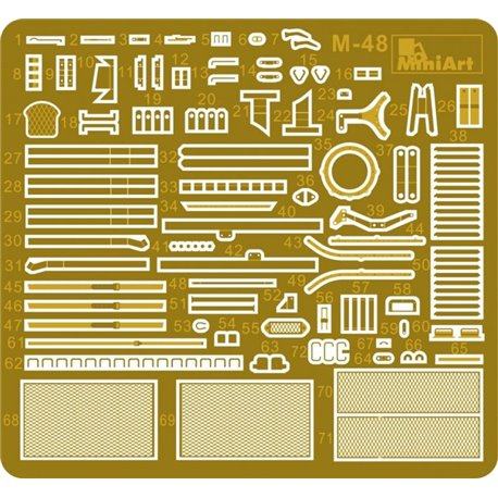 Miniart 37016 1/35 T-55A Early Mod. 1965. Interior Kit