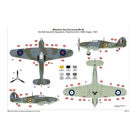 AIRFIX A05134 1/48 Hawker Sea Hurricane MK.IB