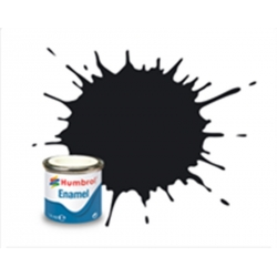 HUMBROL Peinture Enamel 21 BLACK 14ml GLOSS