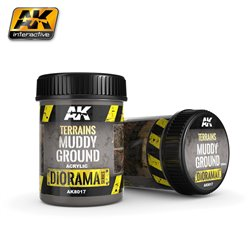 AK Interactive AK8017 Terrains Boue - Muddy Ground 250ml