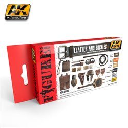 AK Interactive AK3030 LEATHER AND BUCKLES 6x17ml