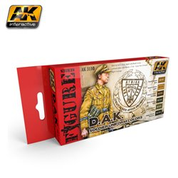 AK Interactive AK3110 D.A.K. SOLDIER UNIFORM COLORS 6x17ml