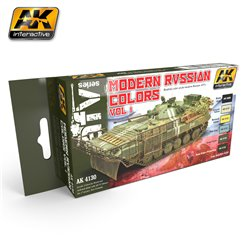 AK Interactive AK4130 MODERN RUSSIAN COLOURS VOL 1 6x17ml
