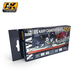 AK Interactive AK5000 US NAVY CAMOUFLAGES 6x17ml