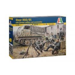 ITALERI 6549 1/35 Steyr RSO/01 with German Soldiers (contains 7 figures and accessories)