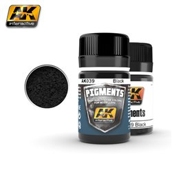 AK Interactive AK039 NOIR - BLACK PIGMENT 35ML