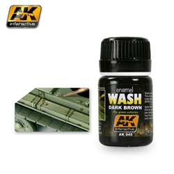AK Interactive AK045 DARK BROWN WASH FOR GREEN VEHICLES 35ML