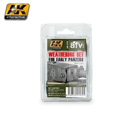 AK Interactive AK072 EARLY PANZERS WEATHERING SET 3x35ml