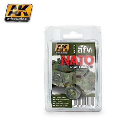 AK Interactive AK073 NATO WEATHERING SET 3x35ml