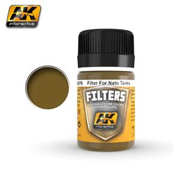 AK Interactive AK076 FILTER DARK BROWN FOR NATO VEHICLES 35ML