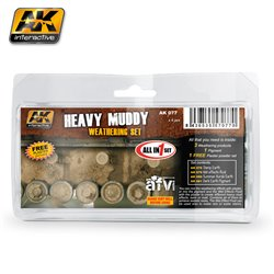 AK Interactive AK077 HEAVY MUDDY SET 4X35ML