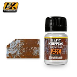 AK Interactive AK089 HEAVY CHIPPING EFFECTS ACRYLIC FLUID 35ml