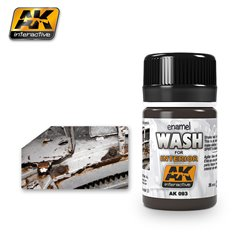 AK Interactive AK093 WASH FOR INTERIORS 35ml