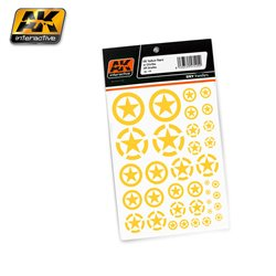 AK Interactive AK101 US YELLOW STARS IN CIRCLES ALL SCALES