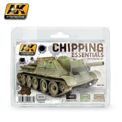 AK Interactive AK138 CHIPPING ESSENTIALS WEATHERING SET 2x35ml 2x35ml