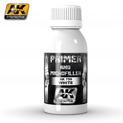 AK INTERACTIVE AK759 WHITE PRIMER AND MICROFILLER 100ml