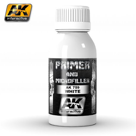 AK Interactive AK759 WHITE PRIMER AND MICROFILLER 100 ml