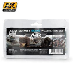 AK Interactive AK2037 EXAUSTS & STAINS WEATHERING SET 5x35ml