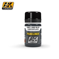 AK Interactive AK2072 PANELINER FOR GREY AND BLUE CAMOUFLAGE 35ml
