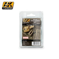 AK Interactive AK260 WOOD WEATHERING SET 3x35ml