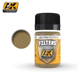 AK Interactive AK261 LIGHT FILTER FOR WOOD 35ml