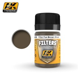 AK Interactive AK262 DARK FILTER FOR WOOD RED BROWN 17ml