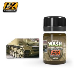 AK Interactive AK300 WASH FOR DARK YELLOW VEHICLES 35ml